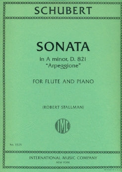 "Sonata in A minor, ""Arpeggione"", D 821 (Flute and Piano)"