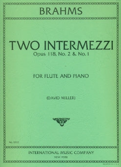 Two Intermezzi (from Op. 118, Nos. 1 and 2) (Flute and Piano)