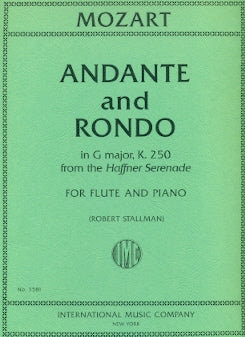 Andante in C Major, K315 and Rondo in D Major, K184 (Flute and Piano)
