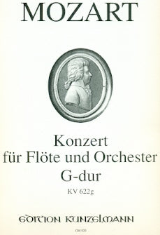 Flute Concerto in G Major, K622g (Flute and Piano)