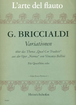 "Variations on ""Qual Cor Tradisti"" (Flute Alone)"