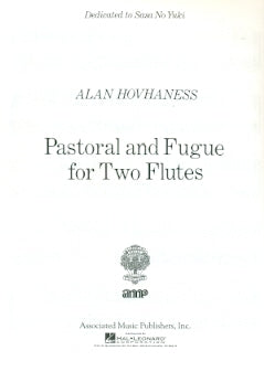 Pastoral and Fugue (Two Flutes)