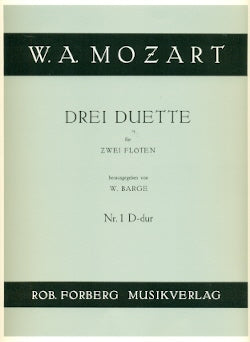 Duets (3) for Flutes: No. 1 in D Major