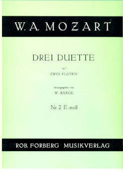 Duets (3) for Flutes: No. 2 in E Minor