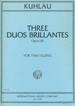 Three Duos Brillantes, Op. 81