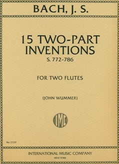 Fifteen Two-Part Inventions (Two Flutes)