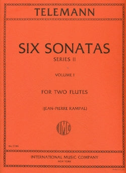 Six Sonatas, Series 2 - Volume 1 (Two Flutes)