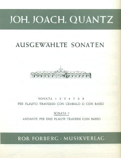 Flute Sonata No. 7 in D Major (Two Flutes)