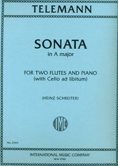 Sonata in A Major (Two Flutes)