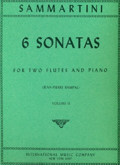 Six Sonatas, Volume 2 (Two Flutes)