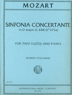 Sinfonia Concertante, K 448 (Two Flutes)