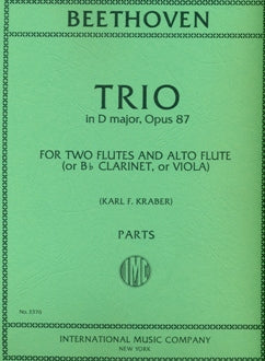 Trio in D Major, Op. 87 (Two Flutes and Alto Flute/Viola/Clarinet)