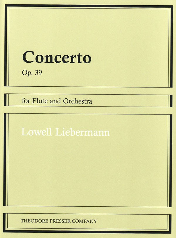 Concerto for Flute and Orchestra, Op. 39 (Flute and Piano)