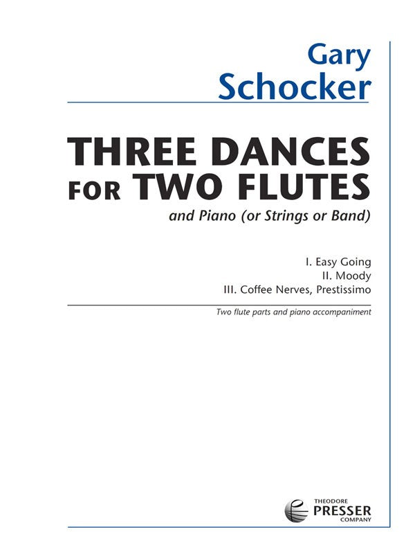 Three Dances for Two Flutes and Piano