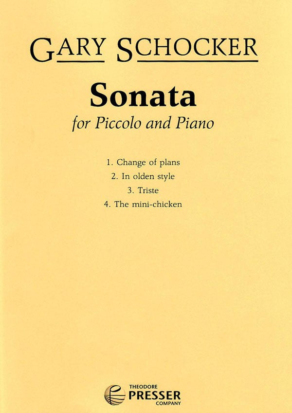Sonata No. 1 (Piccolo and Piano)