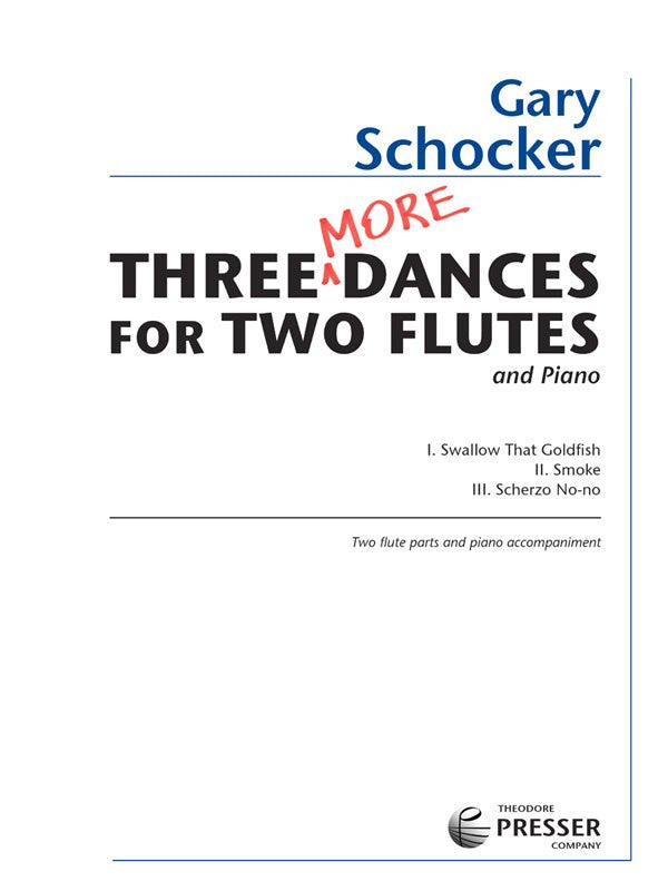 Three More Dances (Two Flutes)