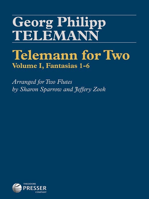 Telemann for Two: Volume 1, Fantasias 1-6 (Two Flutes)