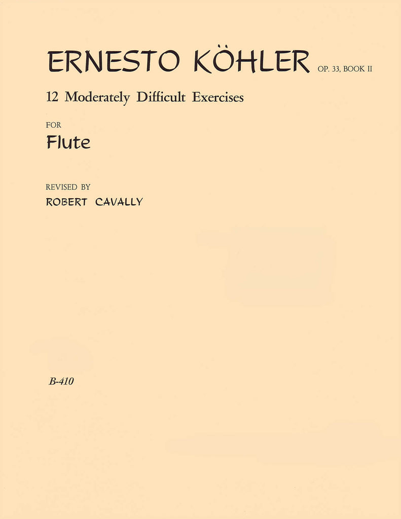 12 Moderately Difficult Exercises for Flute – Op. 33, Pt. 2