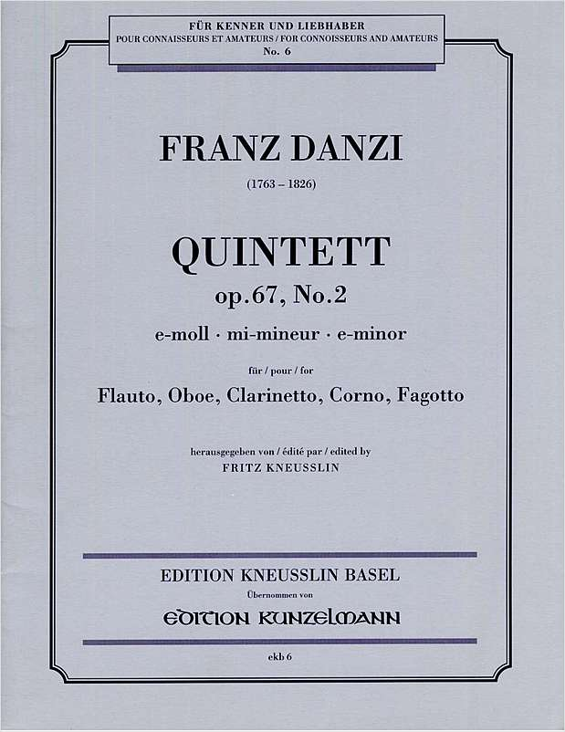 Quintett Op. 67, No. 2 in E Minor (Wind Quintet)