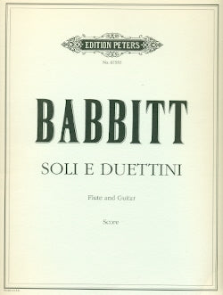 Soli e Duettini (Flute and Guitar)