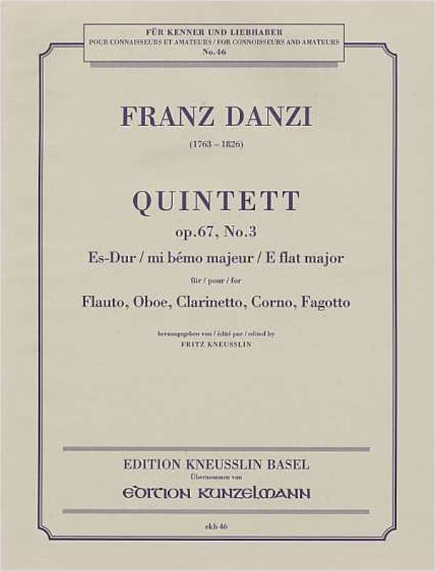 Quintett Op. 67, No. 3 in E-flat Major (Wind Quintet)