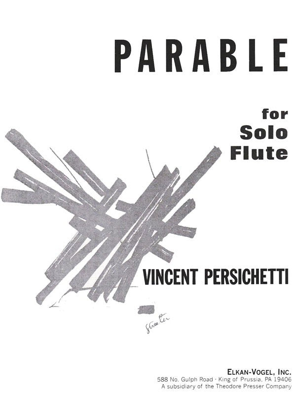 Parable, Opus 100 (Flute Alone)