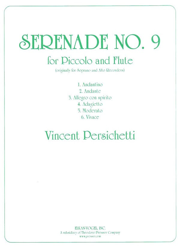Serenade No. 9, Opus 71 (Two Flutes)