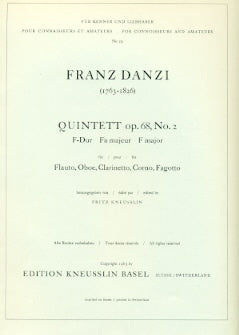 Quintett Op. 68, No. 2 in F Major (Wind Quintet)