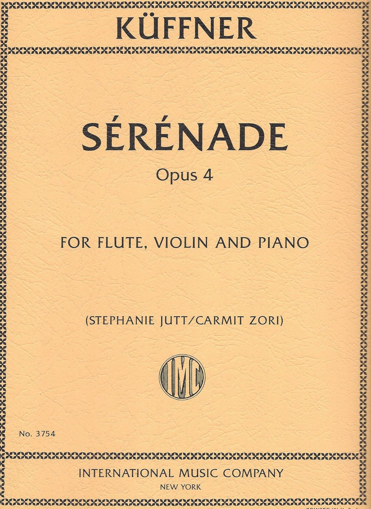 Sérénade, Opus 4 (Flute, Violin, and Piano)