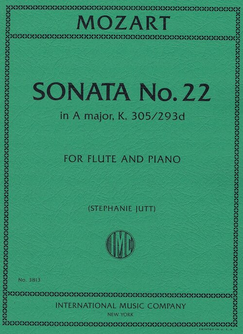 Sonata No. 22 in A major, K. 305/293d (Flute and Piano)