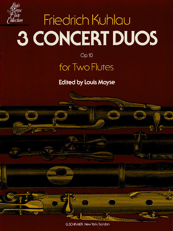 3 Concert Duos, Op. 10 (Two Flutes)