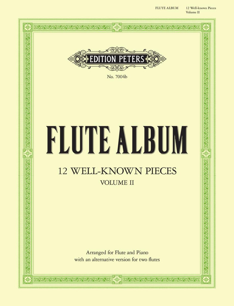 12 Well-known Pieces in 2 volumes - Vol. 2 (Flute and Piano)