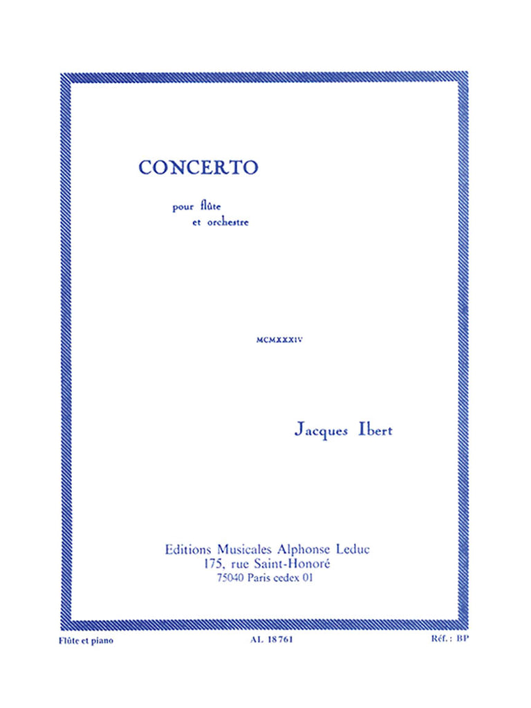Concerto for Flute and Orchestra (Flute and Piano)