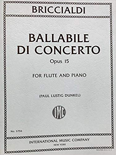 Ballabile Di Concerto, Opus 15 (Flute and Piano)