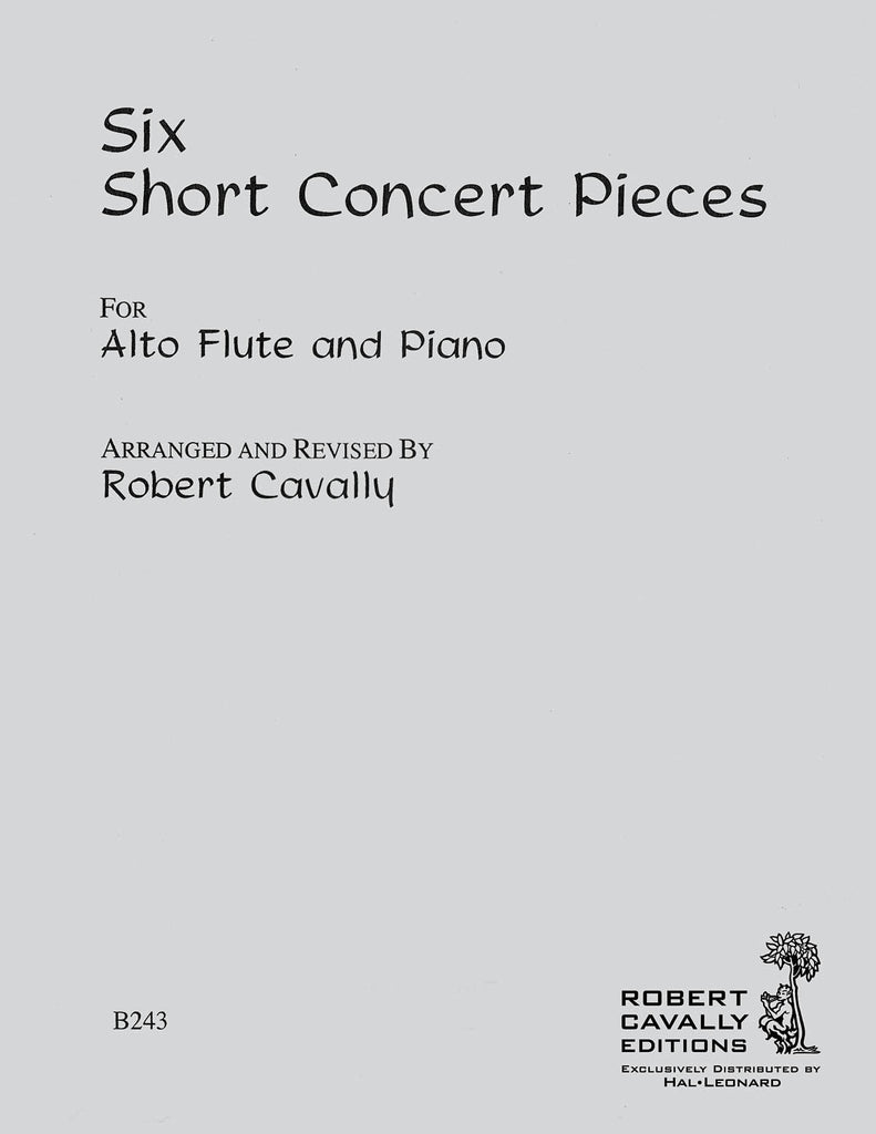 6 Short Concert Pieces (Alto Flute and Piano)