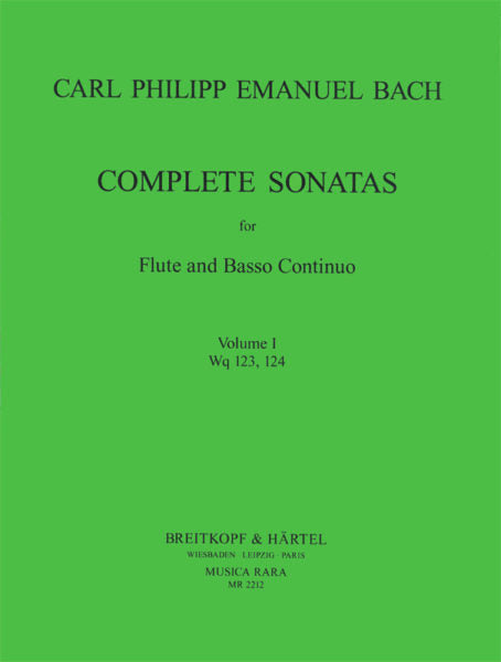 Complete Sonatas for Flute and Basso; Vol. 1 - Sonata in G major, Wq 123 and Sonata in E minor, Wq 124 (Flute and Piano)
