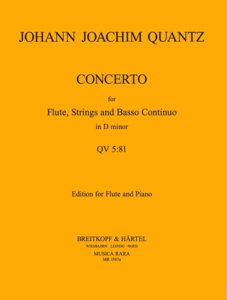 Flute Concerto in D minor QV 5:81 (Full Score)