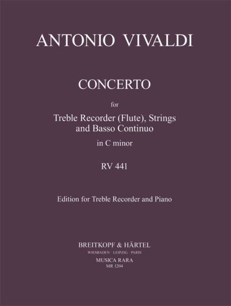 Flute Concerto in C minor RV 441 (Full Score)