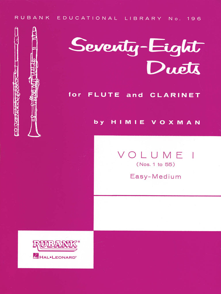 78 Duets for Flute and Clarinet - Volume 1 - Easy to Medium (No. 1-55)
