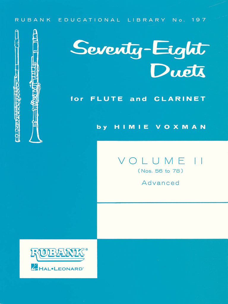 78 Duets for Flute and Clarinet - Volume 2 - Advanced (Nos. 56-78)