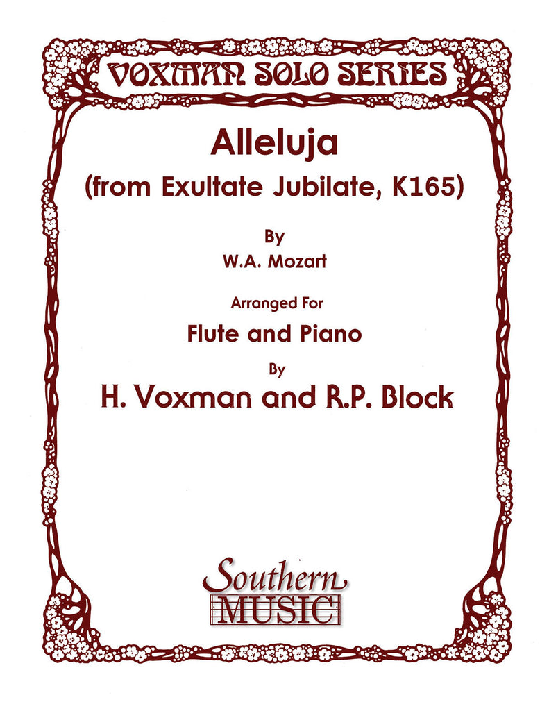 Alleluja (from Exultate Jubilate, K165) (Flute and Piano)