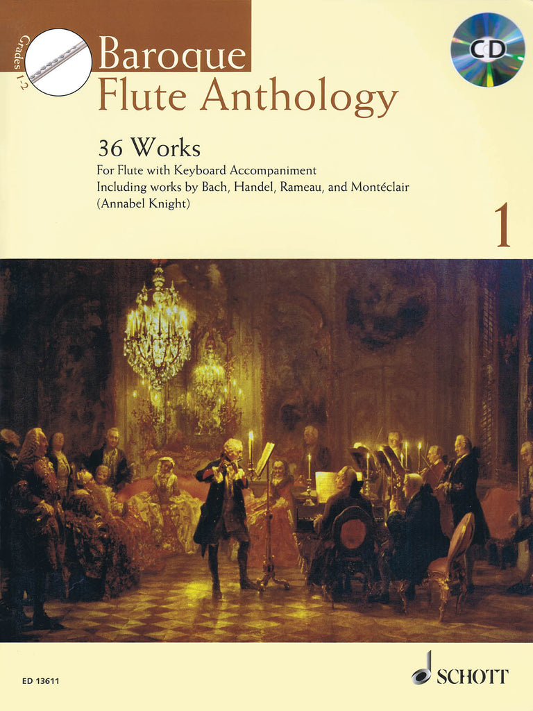 Baroque Flute Anthology Volume 1 - 36 Works (Flute and Piano)