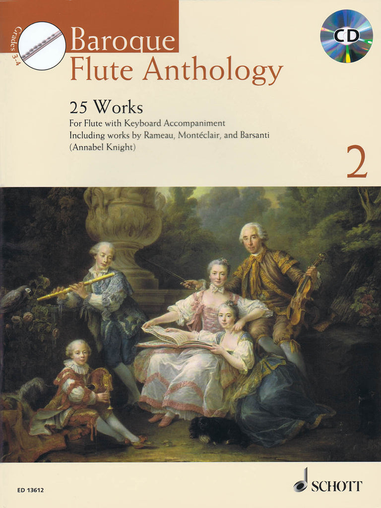 Baroque Flute Anthology Volume 2 - 25 Works (Flute and Piano)