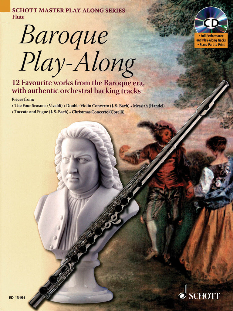 Baroque Play-Along - 12 Favorite Works from the Baroque Era (Flute and Piano)