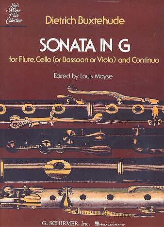 Sonata in G - Score and Parts (Flute, Cello, Piano)
