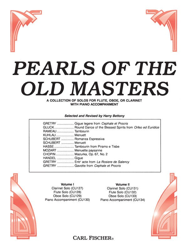 Pearls Of The Old Masters - Vol. 2 (Flute and Piano)