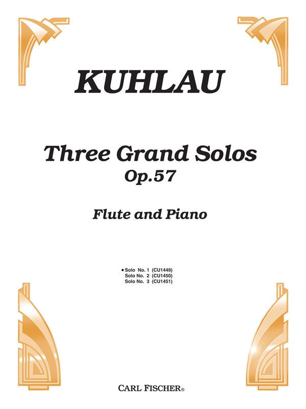 Three Grand Solos, Opus 57 No. 1 (Flute and Piano)