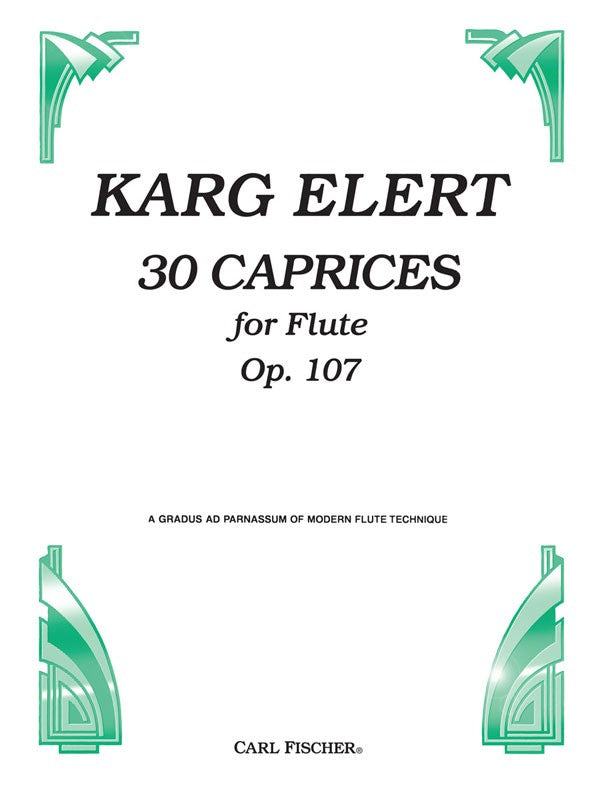30 Caprices for Flute, Opus 107