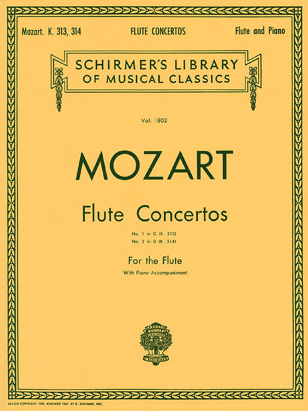 Concerto No. 1 in G Major, K313 & No. 2 in D Major, K314 (Flute and Piano)