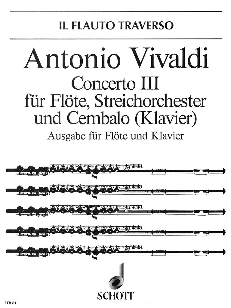 "Concerto No. 3 in D Major, Op. 10 (RV 428/PV 155) ""Il Cardellino"" (Flute and Piano)"